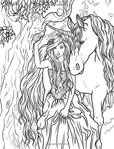 Artist Selina Fenech Fantasy Myth Mythical Mystical Legend Elf Elves Dragon Dragons Fairy Fae Wings Fairies Mermaids Mermaid Siren Sword Sorcery Magic Witch Wizard Coloring pages colouring adult detailed advanced printable Kleuren voor volwassenen coloriage pour adulte anti-stress kleurplaat voor volwassenen Line Art Black and White