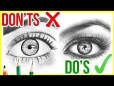 (1) DO'S & DON'TS: How to Draw Realistic Eyes | Step by Step Drawing Tutorial - YouTube