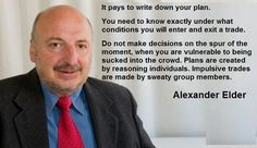 Write down your plan. You need to know exactly under what conditions you will enter / exit a trade.