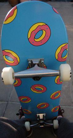 Golf Wang Skateboard with doughnuts Painted Skateboard, Skateboard Deck Art, Penny Skateboard, Skateboard Design, Skateboard Girl, Skate Girl, Cool Skateboards, Custom Skateboards, Skate Decks