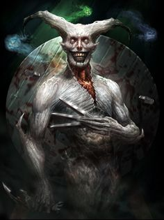 Digital Illustrations by MicheleFrigo Fantasy Kunst, Dark Fantasy Art, Fantasy Rpg, Dark Art, Dark Creatures, Fantasy Creatures, Mythical Creatures, Arte Horror, Horror Art