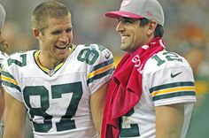 Aaron Rogers and Jordy Nelson~ Two of the hottest guys on the team. Get in there Matthews!! Would be a perfect pic!!
