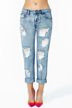 Mustang Boyfriend Jeans by One Teaspoon Stilettos, Ripped Jeans, Denim Jeans,  Distressed Jeans a430664363