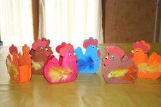 Paniers de Pâques en forme de poule