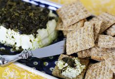 warm basil pesto cream cheese spread