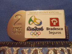 2016 Rio Olympic Sponsor Pin Bradesco 2 Years To Go 2 Anos Para