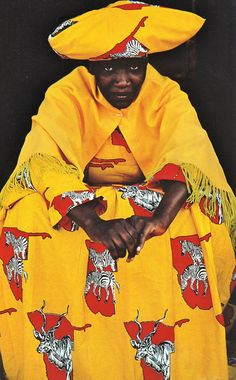 African Herero woman in Namibia - National Geographic, June 1982 Photographs by Jim Brandenburg.