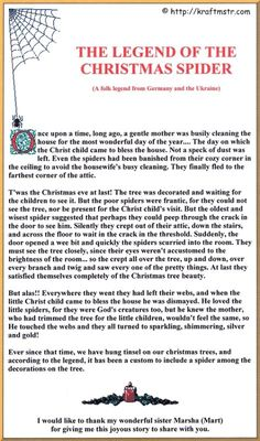 Legend of the Christmas Spider   Legend Stories   Pinterest ...