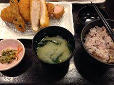 銀座 イマカツ 盛り合わせ定食 ランチ 1500円 キャベツの千切り大盛り