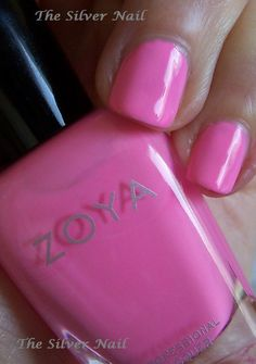 Zoya Tickled Kitridge,  is a classic bubblegum pink, cool to neutral.