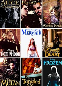 Alice In Wonderland,Peter Pan,Sleeping Beauty,Robin Hood,The Little Mermaid,Beauty And The Beast Mulan,Tangled,Frozen