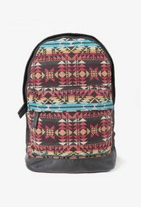 Faux Leather Southwestern Backpack #21Men