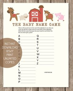 Popular - Printable Pass The Prize Baby Shower Game - Green Gift Style - PrintItBaby.com