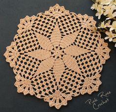 Pink Rose Crochet: Doily 178 , - My site Crochet Dollies, Crochet Stars, Crochet Flower Patterns, Crochet Round, Crochet Home, Thread Crochet, Love Crochet, Filet Crochet, Crochet Motif