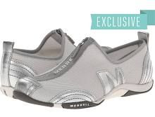 Merrell Barrado Women's Flat Shoes Silver Leather : 8.5 M