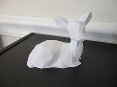 deer, geometric, and 3d print image