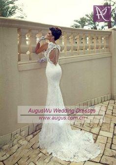 2013 White Ivory Cap Sleeves Lace Mermaid Wedding Dress Custom Sz 2 4 | eBay
