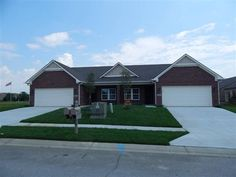 All new construction Brick paired patio home 3 bedrooms w 2 full bath Dual sinks and ceramic tile shower and floor in…