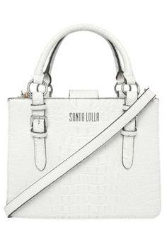 Bolsa Santa Lolla Craqueada Branca