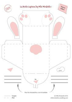 DIY Table Decoration: Your Easter Bunny Box [Gabarit Offert] – Miss Mira … Easter Games, Easter Activities, Children Activities, Bunny Crafts, Easter Crafts, Diy And Crafts, Crafts For Kids, Easter Holidays