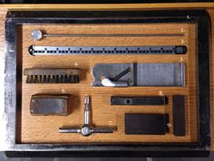 letterpress tools. ginger tree press. kalamazoo / michigan.  http://gingertreepress.com/