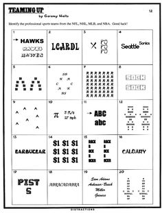 Puzzles on Pinterest | Word Puzzles, Brain Teasers and Fact And ...