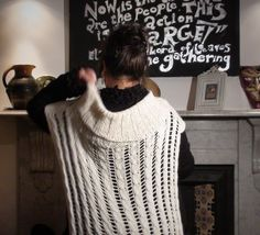 Belinda Harris-Reid design collection - Tumbling Cascade, jumper, top down jumper, warm soft jumper, ribbed yoke, long sleeves, alpaca, silk and cashmere, hand-knitted, made by hand, two versions, cables, complex cables