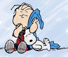 Snoopy and Linus #Peanuts