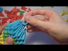 3D origami parrot tutorial - YouTube