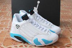 scarpe da ginnastica Uomo AIR JORDAN 14 RETRO Bianco/Blu