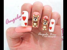 Disney Nails, Manicures, Nail Art Designs, Polish, Beauty, Work Nails, Drawings, Amor, Polish Nails
