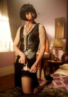 Essie Davis, star of Miss Fisher's Murder Mysteries on the ABC, in 'Murder in Montparnasse'.