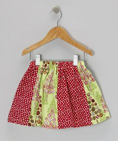 Take a look at this Red Polka Dot Christmas Sweets Skirt - Toddler & Girls by Beary Basics on #zulily today!