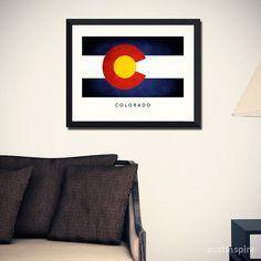 Colorado-Flag-Kunstdruck von Austinspire auf Etsy