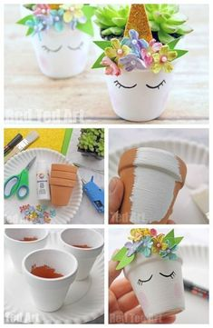 Unicorn Planter DIY is part of Unicorn crafts - Unicorn Planter DIY DIY Unicorn Succulent Planters How to make a succulent planter How to make a unicorn planter Succulent Planter DIY Room decor ideas Unicorn Decor idea Unicorn DIYs Kids Crafts, Diy And Crafts, Craft Projects, Handmade Crafts, Cute Diy Crafts For Your Room, Adult Crafts, Decor Crafts, Unicorn Diys, Unicorn Crafts