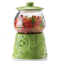 Retro Design Gumball Candy or Cookie Jar Container ♥ SO Cute