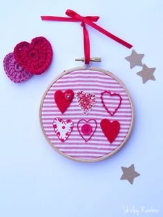 Hoop Art by Shirley Rainbow available from Folksy. Hand appliqué and embroidery.