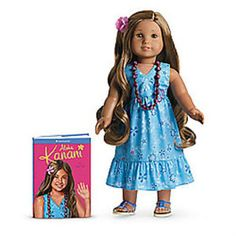 Many of the American Girl dolls are currently worth a lot money and could continue to be in the future. Do you own any American Girl dolls? Luau Outfits, Girl Outfits, Girl Doll Clothes, Girl Dolls, Barbie Clothes, My American Girl Doll, For Elise, New Dolls, Dolls Dolls
