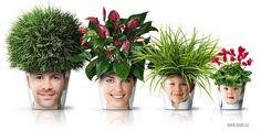DIY project alert! Next century chia: Human face planters. Cracks me up!