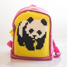 Kids Backpack and endless possibilities to have fun, express, be unique....... with lego like pixel chips