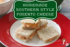 Homemade Southern Style Pimento Cheese http://www.attagirlsays.com/2013/04/16/homemade-southern-style-pimento-cheese-recipe/