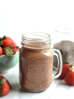 Strawberry Chocolate Chia Smoothie - I don't care for strawberries, so I am going to try it with cherries