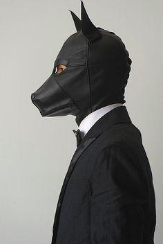Corona virus headgear for your new shaved head – Rod Anker Animal Masks, Animal Heads, Dark Fashion, Mens Fashion, Puppy Play, The Villain, Red Riding Hood, Headgear, Headdress