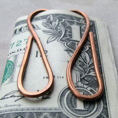 Copper Wire Money Clip or Book Mark