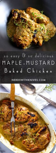 Maple-Mustard Baked Chicken Thighs