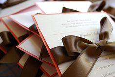 Esprit boite de chocolat. Faire-part à croquer  | chocolate spirit, wedding invitation