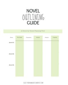 Free Novel Outlining Guide, a gift for writers for NaNoWriMo prep, with easy tips on how to use by Jenny Bravo of Blots & Plots blog
