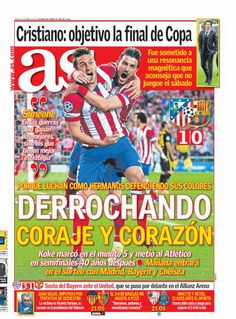 CHAMPIONS LEAGUE (2013-2014). Por primera vez, después de 40 años, el Atlético de Madrid alcanza la semifinal de la Champions tras vencer al Barça.