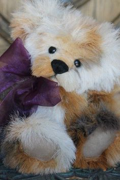 OOAK FUR TEDDY BEAR ARTIST KIMBEARLYS ORIGINALS HAND MADE ONE OF A KIND #AllOccasion