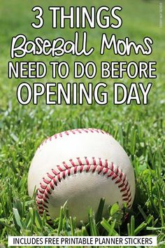 Get organized for a great season with these easy tips plus FREE printable baseball planner stickers. Love these ideas for getting your kids ready for baseball season without the stress. Pc Baseball Games, Travel Baseball, Baseball Scores, Baseball Tips, Baseball Season, Baseball Boyfriend, Baseball Mom, Baseball Stuff